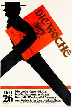 Julius Gipkens, poster for Die Woche, 1914