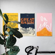 Type Hike posters   benefitting the National Park's Centennial Campaign