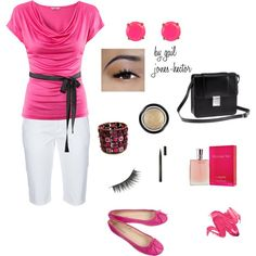 Pink, created by sageflower on Polyvore