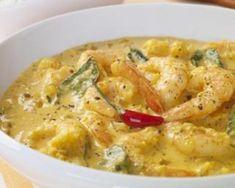 Curry de crevettes au potiron et lait de coco…