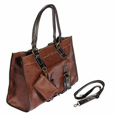 Women Lady Large Leather Handbag Shoulder Shopping Bag Tote Messenger Bag, an umbrella,a phone, a wallet, a cosmetic, etc.