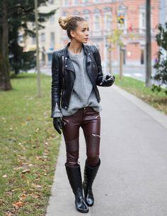 great leather. #TatjanaCatic in Vienna.