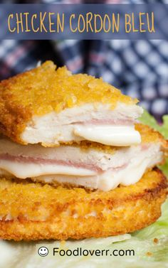 Hands down it is the sauce in this recipe for Chicken Cordon Bleu which makes the meal. The chicken and the sauce really go so well together this is a dish I know I can rely on when I want to impress people. If you want to add some vegetables to it the. I Love Food, Good Food, Yummy Food, Delicious Dishes, Yummy Yummy, My Favorite Food, Favorite Recipes, Chicken Cordon Bleu, Food Dishes