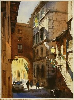 """About a week ago, my friend Denise happened to """"like"""" this watercolor painting by Taiwanese artist Chien Chung-Wei (aka Prince Hibari)...."""