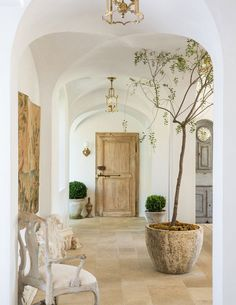 Home Decor and Lifestyle from Hello Lovely Studio: Beautiful European farmhouse (Patina Farm) with vintage door and plaster walls French Country Interiors, Country Interior Design, French Farmhouse Decor, French Country House, French Decor, French Country Decorating, Farmhouse Style, Interior Ideas, French Style House
