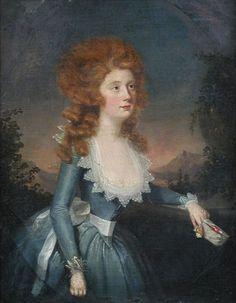 Francis Alleyne Portrait of the Hon, Anne St John Trefusis 1763- (Mrs Thomas Maxwell Adams )