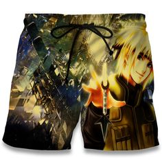 New Fashion Summer Men Shorts Beach Print Trunks Naruto Namikaze Minato Bermuda Hawaii Boardshorts Clothing Plus Size Swim Shorts, Bermuda Shorts, Men Shorts, Anime Store, Men Beach, Mens Boardshorts, Anime Naruto, Swim Trunks, Latest Fashion