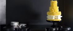 Pretty #yellow #wedding #cake