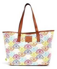 Lily Bloom LB Signature Multi Cotton Canvas Tote | zulily
