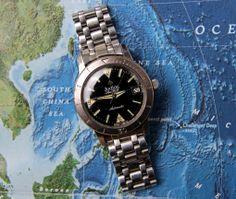 1960s Zodiac Sea Wolf Automatic Date on original JB Champion bracelet