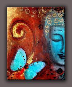 RELAXATION ROOM: 8x10 - THE PRESENT MOMENT - meditation, inspirational, yoga, spiritual, buddhist. $45.00, via Etsy.