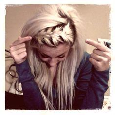 braided bang hairdo
