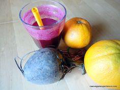 Sumo beterraba e laranja Raw Vegan Experience