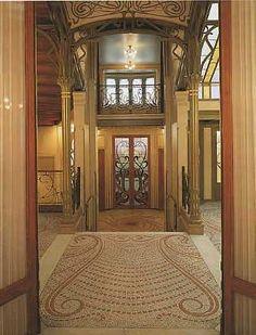 Victor Horta (1861-1927) - Hotel Tassel Entry Hall View. Brussels, Belgium. Circa 1893-1894.
