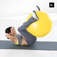 Tone that belly with this ball workout
