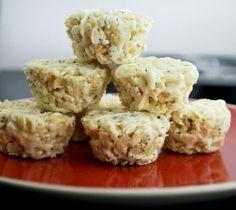 Lemon Poppy Seed Rice Krispy Treats