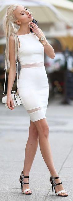 White & Gold Outfit Idea by Meri Wild Blog