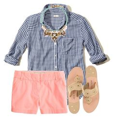 """""""Preppy"""" by preppy-horsegirl ❤ liked on Polyvore featuring Hollister Co., J.Crew, Jack Rogers, women's clothing, women, female, woman, misses and juniors"""