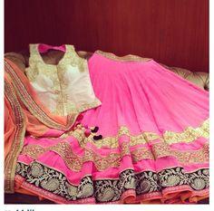pink lehenga with blouse