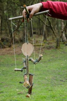 Wood puppet. Made by an adult on a kindling course, the idea could be simplified down for children.