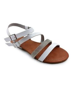 Love this White Christine Double Buckle Sandal - Kids on #zulily! #zulilyfinds