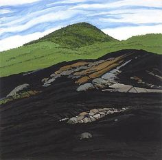 Blueberry Burn Morey's Hill, 1997 by Neil Welliver. Contemporary Realism. landscape. Alexandre Gallery, New York CIty, NY, US