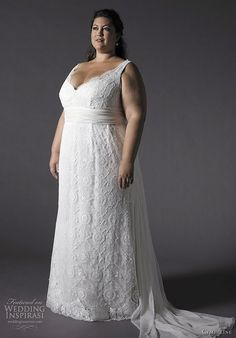 Pluse size second time wedding dresses