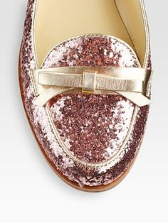 pink glitter loafers--     (too much?  don't care.)