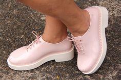 Melissa grunge rosa - Grandes Mulheres. Sapato. Shoes.