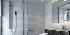 Room Ideas: Tile inspiration for bathrooms, kitchens, living rooms & Bathroom Renos, Laundry In Bathroom, Bathroom Renovations, Bathroom Ideas, Beautiful Bathrooms, Small Bathrooms, Contemporary Tile, Beaumont Tiles, Home Projects