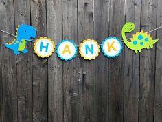 Dinosaur Banner - Dinosaur Birthday Banner - This listing is for a Dinosaur banner. Dinosaur First Birthday, Boy First Birthday, 2nd Birthday Parties, Dinosaur Cupcake Toppers, Dinosaur Crafts, Diy Birthday Decorations, First Birthdays, Baby Shower, Paper Ribbon