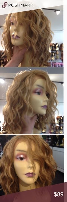 Lacefront beach curls New wig Beautiful beach wave perfect wig to wear during the day and still look SEXY long enough around the face but not to long it's nothing you heat resistant adjustable cap wig combs inside this is a fine quality Swisslacefront wig Accessories Hair Accessories