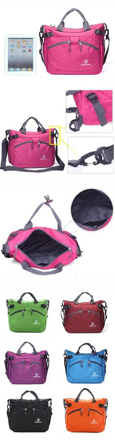 [$ 17.09] Women Casual Nylon Multi-Pocket Zipper Shoulder Bags Crossbody Bags