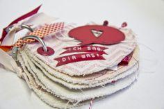 Heartshaped canvas minibook