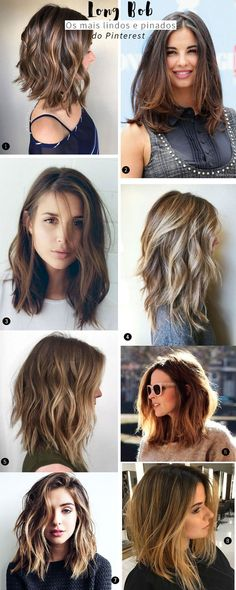 CORTE LONG BOB: OS MAIS LINDOS E PINADOS DO PINTEREST!