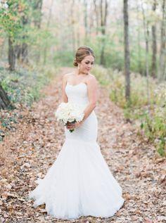 Classic Monique Lhuillier wedding dress: http://www.stylemepretty.com/tennessee-weddings/nashville/2017/01/30/classic-wedding-rolls-royce-getaway-car/ Photography: Simply Sarah - http://simplysarah.me/