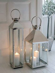 I would love a tall thin lantern like this one......you know since I don't have very many lanterns LOL