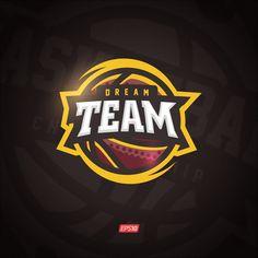 Modern professional vector Dream team logo for a basketball team Basketball Logo Design, Basketball T Shirt Designs, Team Logo Design, Soccer Logo, Mascot Design, Basketball Teams, Basketball Court, First Youtube Video Ideas, Esports Logo