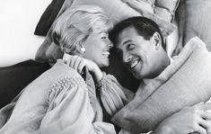 Doris Day and Rock Hudson on the set of Pillow Talk