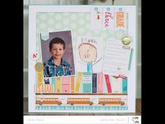 """Moments Series: Grade Three Photo (Two Peas in a Bucket)...like the use of """"banners"""" at the top, and the layout with the journalling cards"""