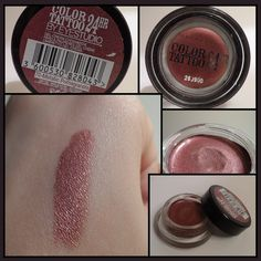 Swatch Color Tattoo Maybelline New York 70 - Metallic Pomegranate
