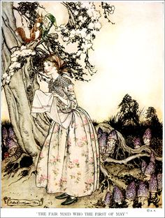 Art by Arthur Rackham (1913) from the book, OLD NURSERY RHYMES.