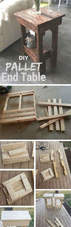 Easy DIY End Table from Wooden Shipping Pallets Tutorial | Instructables