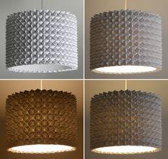 Diy Faceted Pendant Lights – The Large Drum Shade | the 3 R's blog
