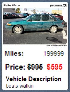 The most honest used car ad ever...
