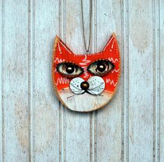 Hey, I found this really awesome Etsy listing at https://www.etsy.com/listing/214404482/cat-ornament-recycled-hand-made-cat