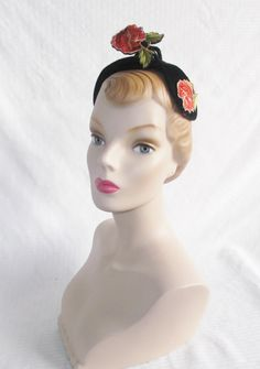 1950's Vintage Cocktail Half Hat with by MyVintageHatShop on Etsy