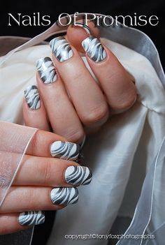 Sliver Ripple Live Nail Art Tutorial. Nails Of Promise  Watch it on You Tube  http://youtu.be/Yt_q4OdMG2Q