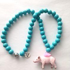 Pirates& Ponies Piggy Necklace