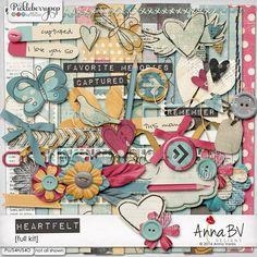 Pickleberrypop :: Kits & Mini Kits :: Heartfelt kit Digital Scrapbooking, Kit, Collections, Paper, Design, Products, Design Comics, Beauty Products